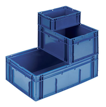 European solid stacking containers