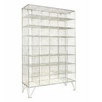 Wire Mesh Lockers 40 Compartments - 1370x830x457mm