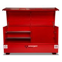 Flambank storage chest with two small shelves and deep storage space.
