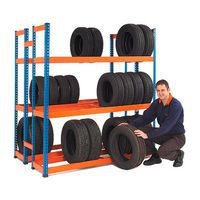 Rapid 1 Double Sided Tyre Racks In Use