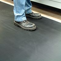 In Use Fine Rib Rubber Anti-Slip Safety Mats - W900mm x D3mm