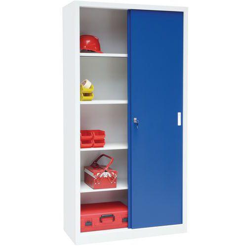 Steel Cupboard with Sliding Doors - HxW 2000x1500mm