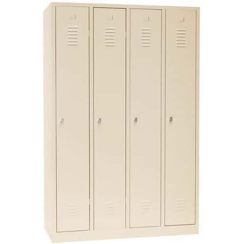 Clean industry locker - 1 to 4 columns - On base - Manutan