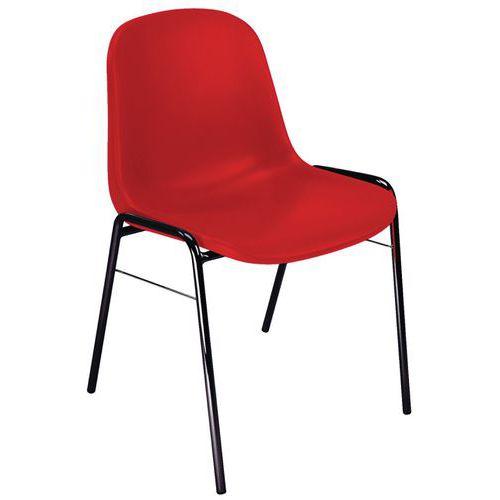 Plastic Stacking Chair - Black Base - Manutan