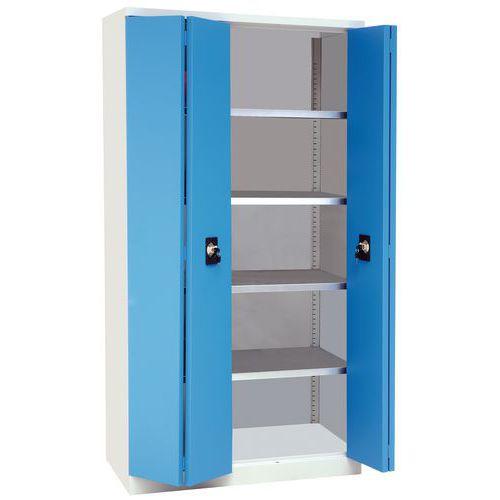 Steel Cupboard with Folding Doors - 1950mm High