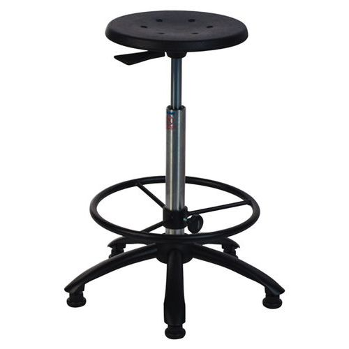 Workshop Stool with Footrest - High
