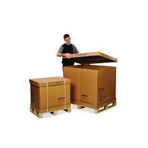 Cardboard Pallet Boxes - Wooden Pallet & Stitched Cardboard