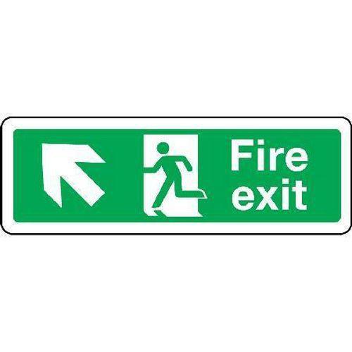 Fire exit Sign - Arrow Up Left