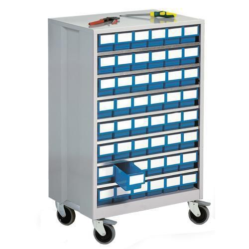 High Density Mobile Storage Cabinets with 48 Shelf Bins