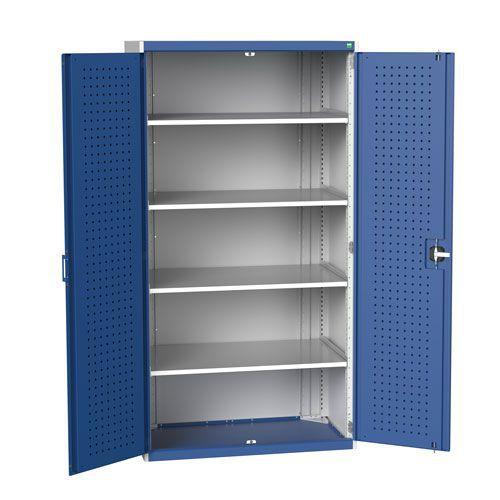 Bott Cubio Metal Storage Cupboard & Perfo Doors HxWxD 2000x1050x650mm