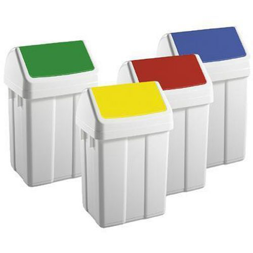 Swing Top Plastic Bins