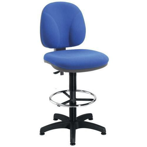 Height-Adjustable Fabric Draughtsman Chair