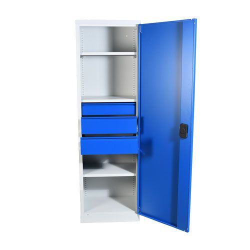 Heavy Duty Tall Cupboards with 3 Drawers