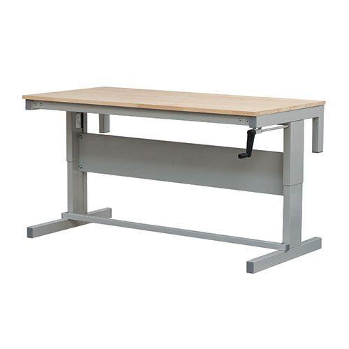 Height Adjustable Premium Workbench With Beech Top HxW 730-950x1200mm