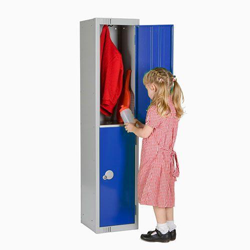 Elite School Lockers. Choose from 1-3 Doors HxW 1370x300mm