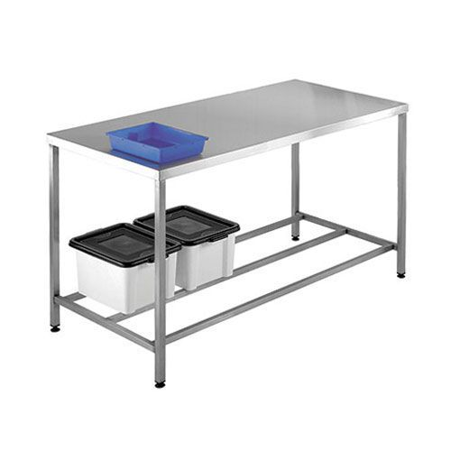 Hygienic Stainless Steel Workbench with a 250kg UDL HxW 840x1500mm