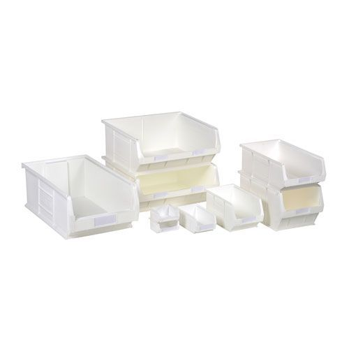 White Anti-Bacterial Semi-Open Fronted Containers