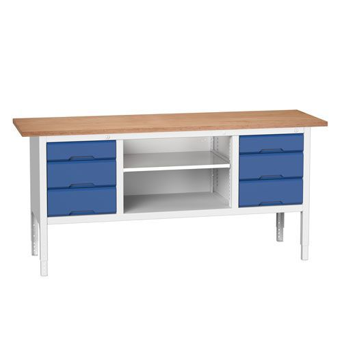 Bott Verso Adjustable Workbench Drawers & Shelves 830-930x2000x600mm