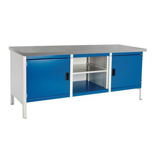 Bott Cubio Heavy Duty Industrial Workbench 2 Cabinet HxWxD 840x2000x750mm
