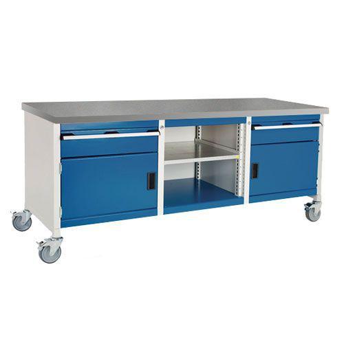 Bott Cubio Mobile Workbench With Lino Worktop HxWxD 840x2000x750mm