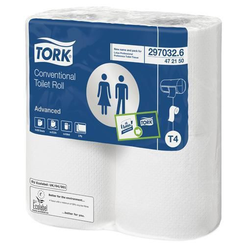Tork Advanced Toilet Rolls- Pack of 36