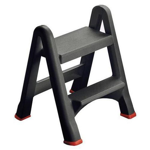 Folding Rubbermaid Step Stool With Two Plastic Steps