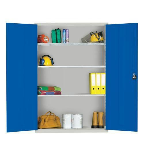 Extra Wide Lockable Cupboard with 3 Shelves