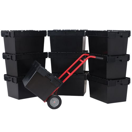 Tote Box Containers Pack of 10 and Free Sack Truck