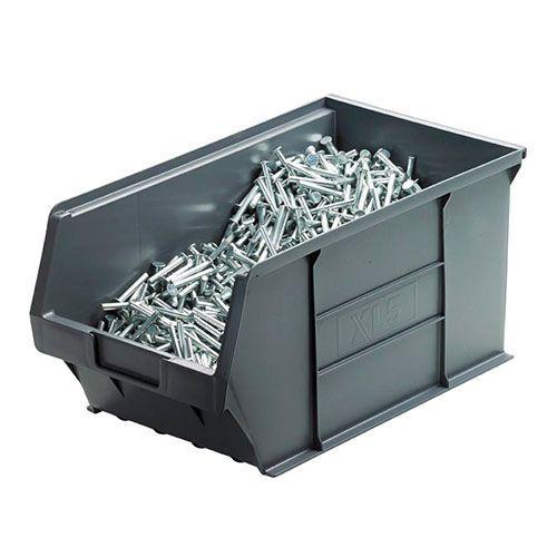 12.8L Recycled Storage Bins Grey H175xW200xD355mm - Pack of 10