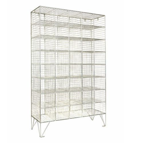 Wire Mesh Lockers With Or Without Doors - 12-40 Compartments