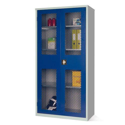 Mesh Door Cupboard with 3 Shelves - 1830x915x457mm