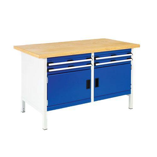 Bott Cubio Heavy Duty Workbench with 4 Drawers & 2 Cupboards