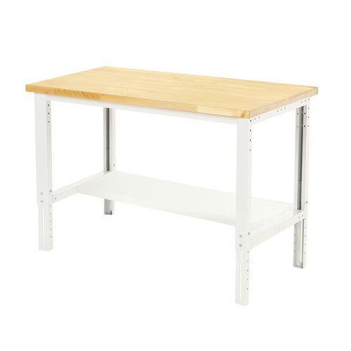 Bott Cubio Height Adjustable Workbench Shelf & MPX Top 740-1140x1500x750mm