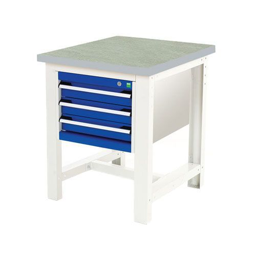 Bott Cubio Heavy Duty Industrial Workstand With Lino Worktop HxWxD 840x750x750mm