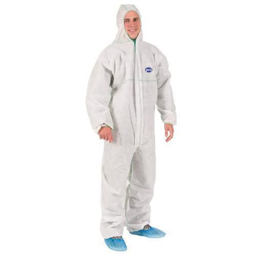 White Disposable Coveralls - Pack of 5