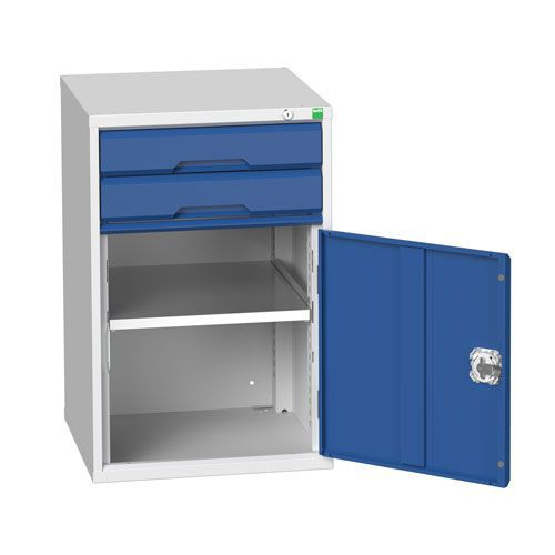Bott Verso 1 Shelf 2 Drawer Combined Metal Tool Cabinet HxW 800x525mm