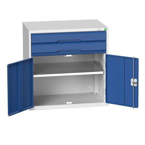 Bott Verso Combi Cabinet 1 Shelf And 2 Drawers HxWxD 800x800x550mm