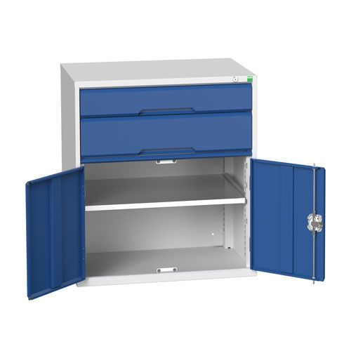 Bott Verso 1 Shelf 2 Drawer Combined Metal Tool Cabinet HxW 900x800mm