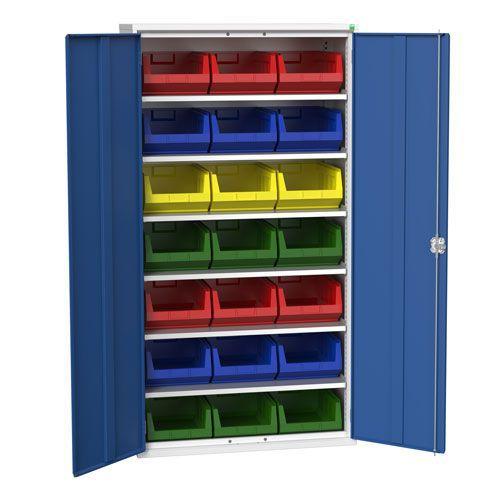 Bott Verso Workshop Storage Cabinet With 21 Bins HxW 2000x1050mm