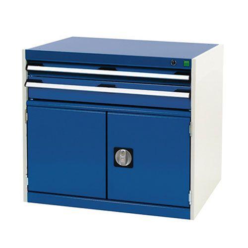 Bott Cubio Combi Cabinet Perfo Doors 1 Shelf And 2 Drawers 700x800x525