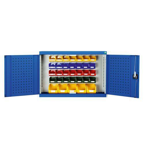 Bott Cubio Louvre/Perfo Workshop Storage Cabinet 33 Bins 700x1050mm