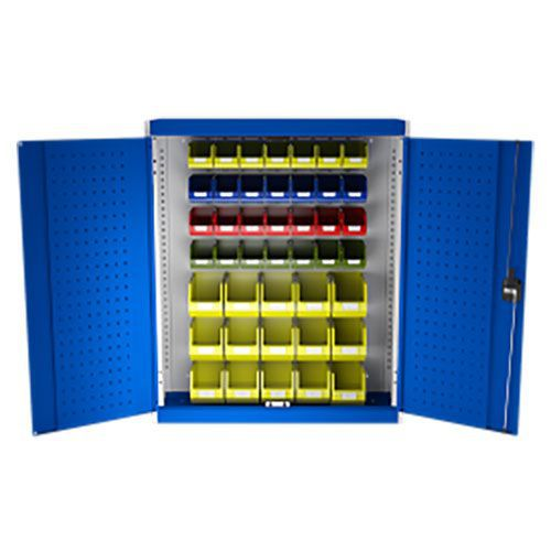 Bott Cubio Louvre/Perfo Workshop Storage Cabinet 43 Bins 1000x1050mm