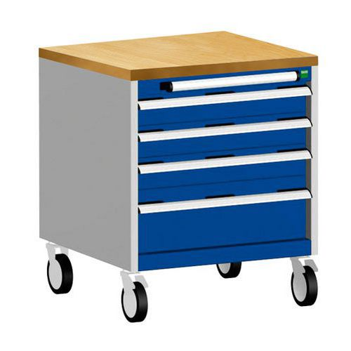 Bott Cubio Multi Drawer Mobile Tool Storage Cabinet 790x650x650mm