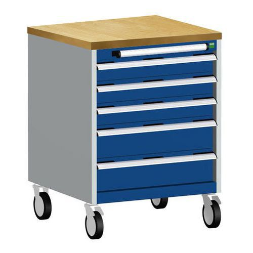 Bott Cubio Multi Drawer Mobile Tool Storage Cabinet 890x650x650mm