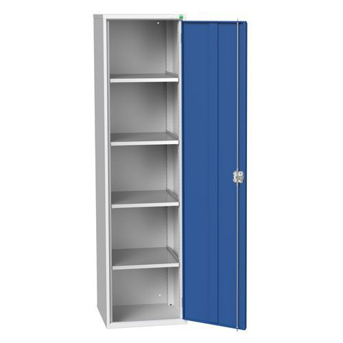 Bott Verso 4 Shelf Metal Storage Cupboard HxWxD 2000x525x550mm
