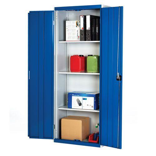Bott Cubio Metal Storage Cabinet With 3 Shelves 2000x1050mm