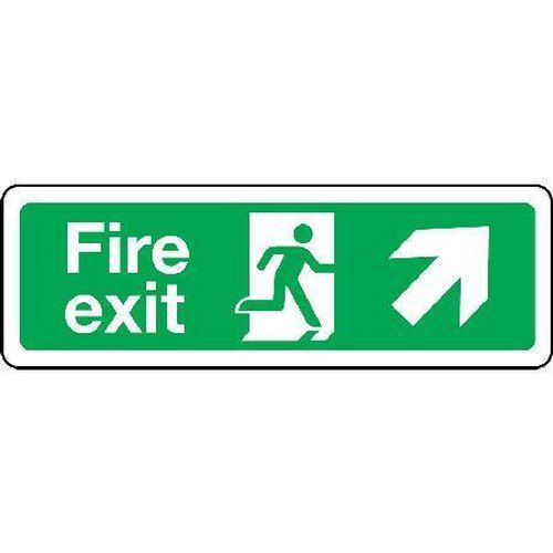 Fire exit Sign - Arrow Up Right