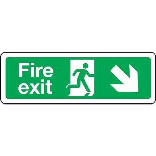 Fire exit Sign - Arrow Down Right