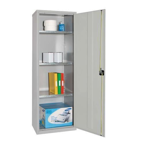 Narrow Lockable Storage Cupboard with 3 Shelves - 1830x610x457mm