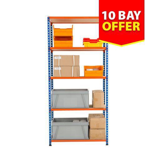 10 Bay Rapid 2 Offer - 5 Chipboard Shelves (1830h x 915w)